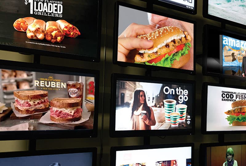 restaurant signage restaurant digital signage